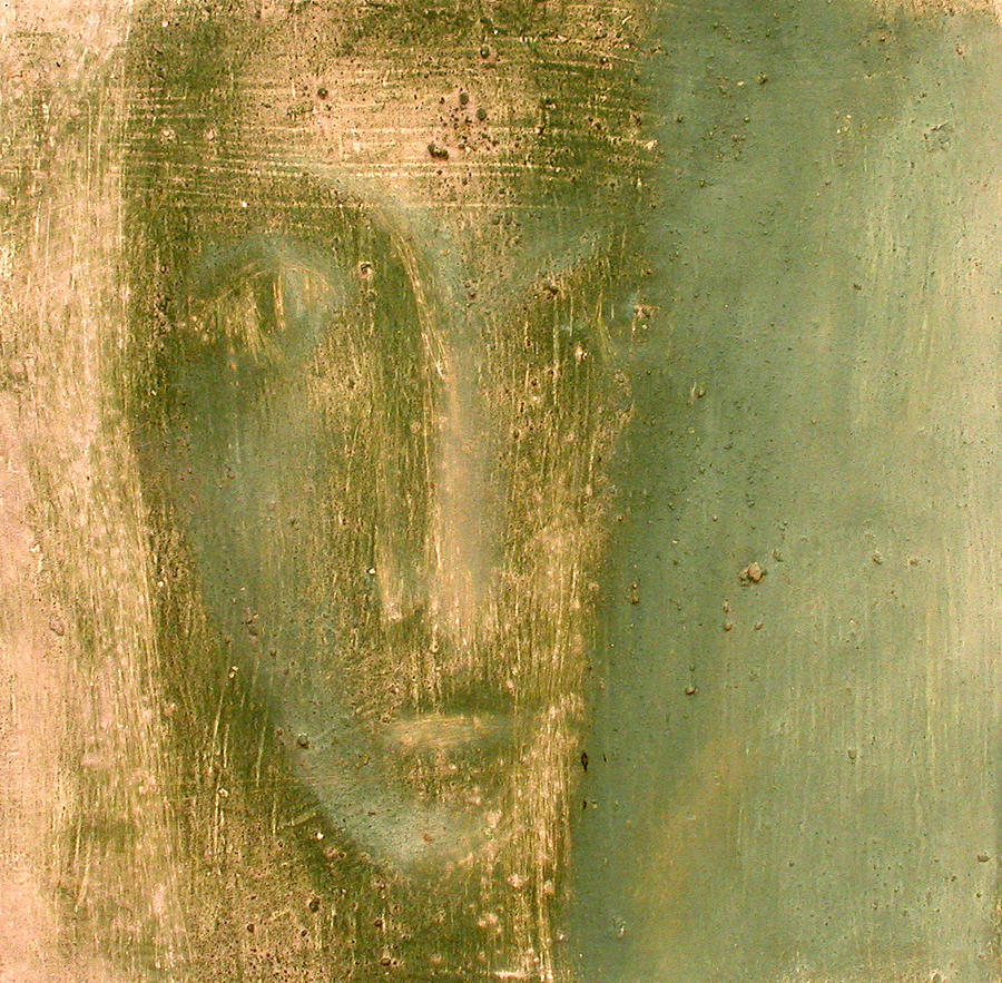 Head. Painting by Milush Mitushev