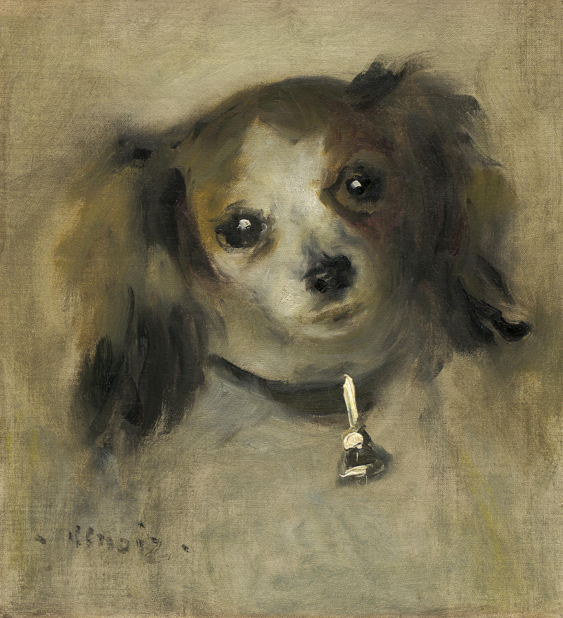 Head Of A Dog Painting