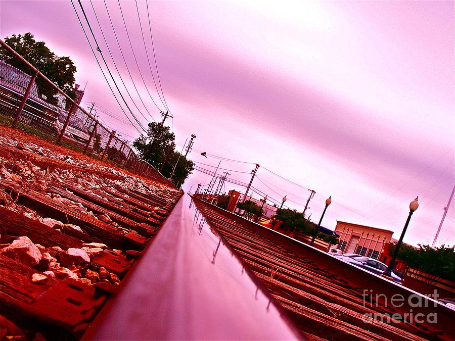 Train Photograph - Head On The Tracks by Chuck Taylor