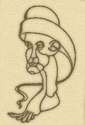 Head Drawing - Head To Foot by Alberto Cidraes