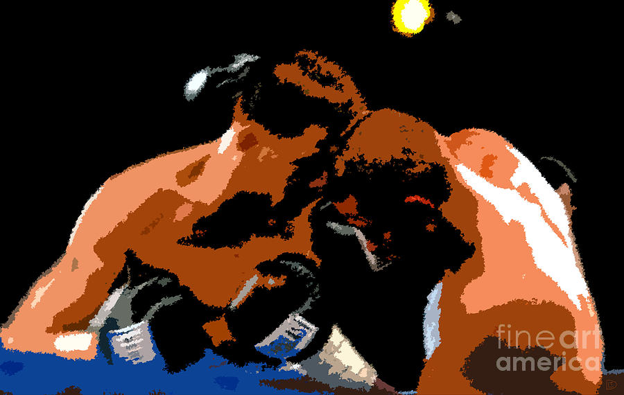 Boxing Painting - Head To Head by David Lee Thompson