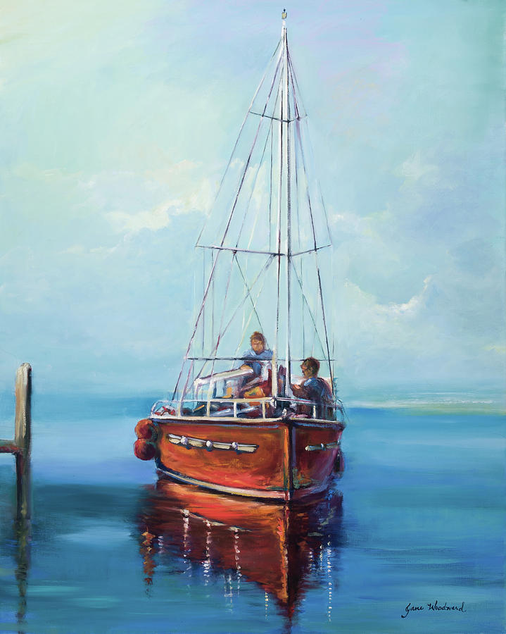 Father And Son Painting - Headed Out by Jane Woodward