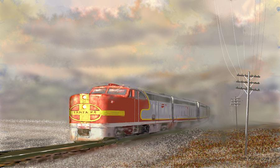 Atsf Digital Art - Heading East by Kerry Beverly