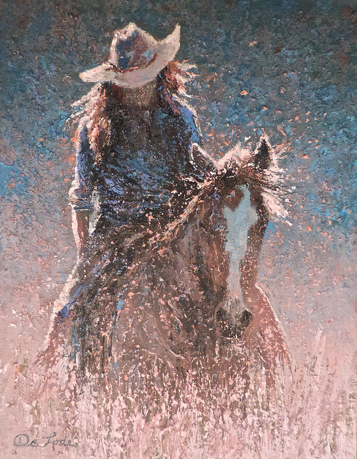 Woman Painting - Heading For Oats And A Long Soak by Mia DeLode