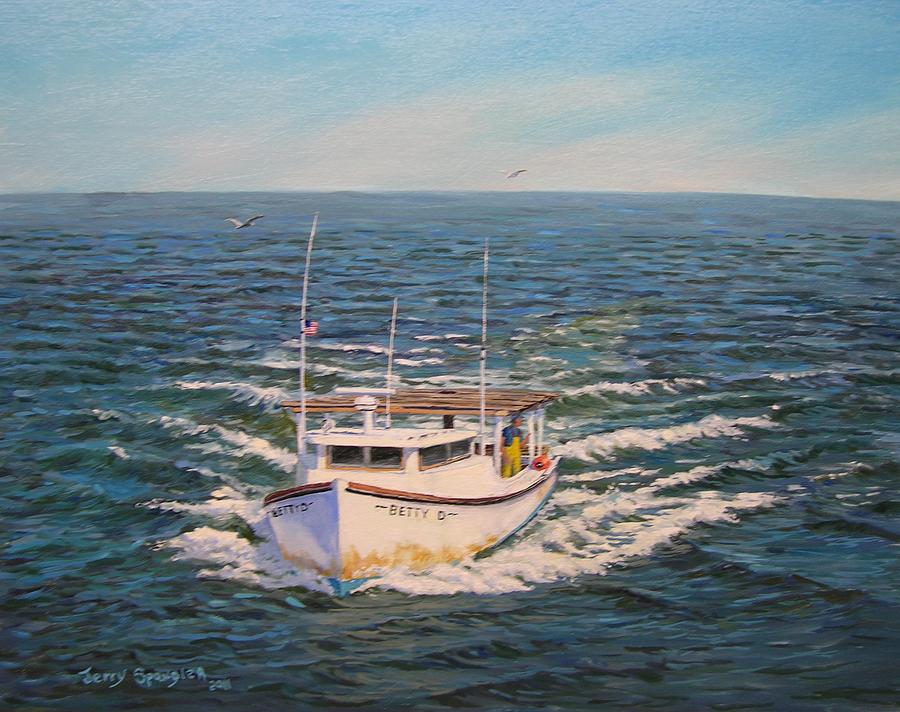 Seascape Painting - Heading Fot Tangier Island by Jerry Spangler