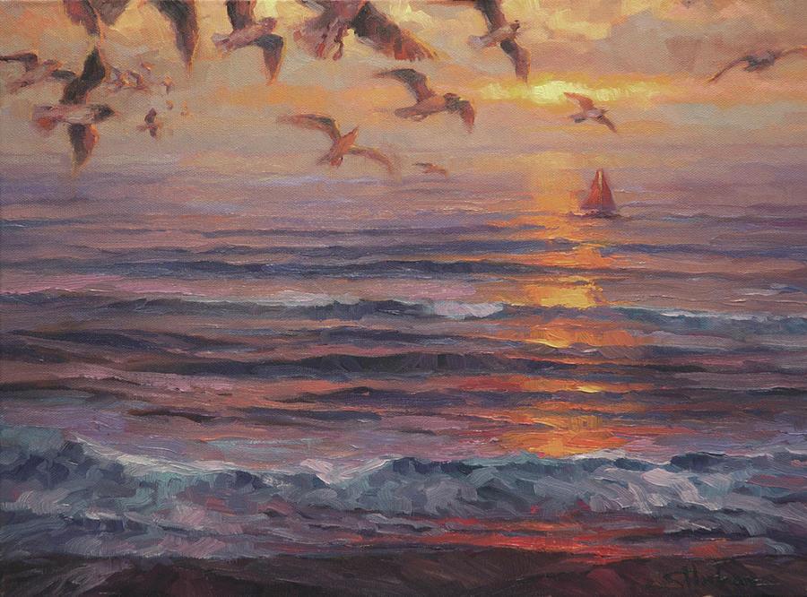 Coast Painting - Heading Home by Steve Henderson