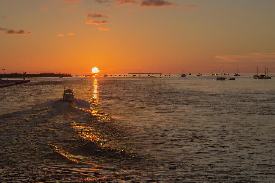 Sunset Photograph - Heading Into The Sunset by Christina Carlson