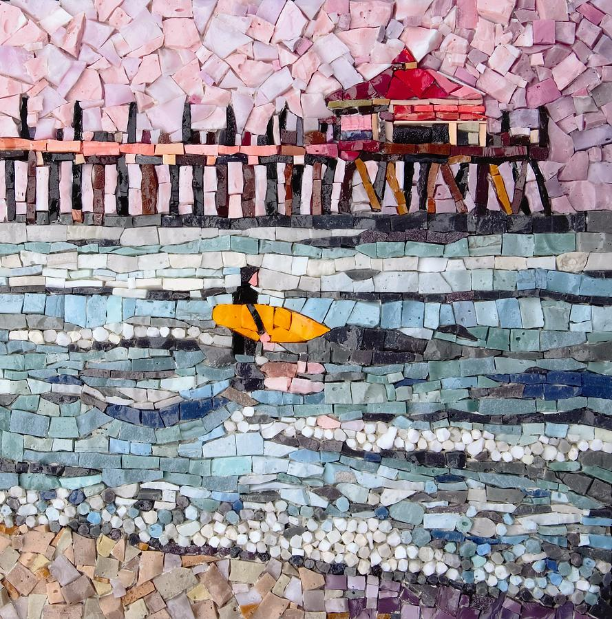 Mosaic Glass Art - Headed Out by Anne Marie Price