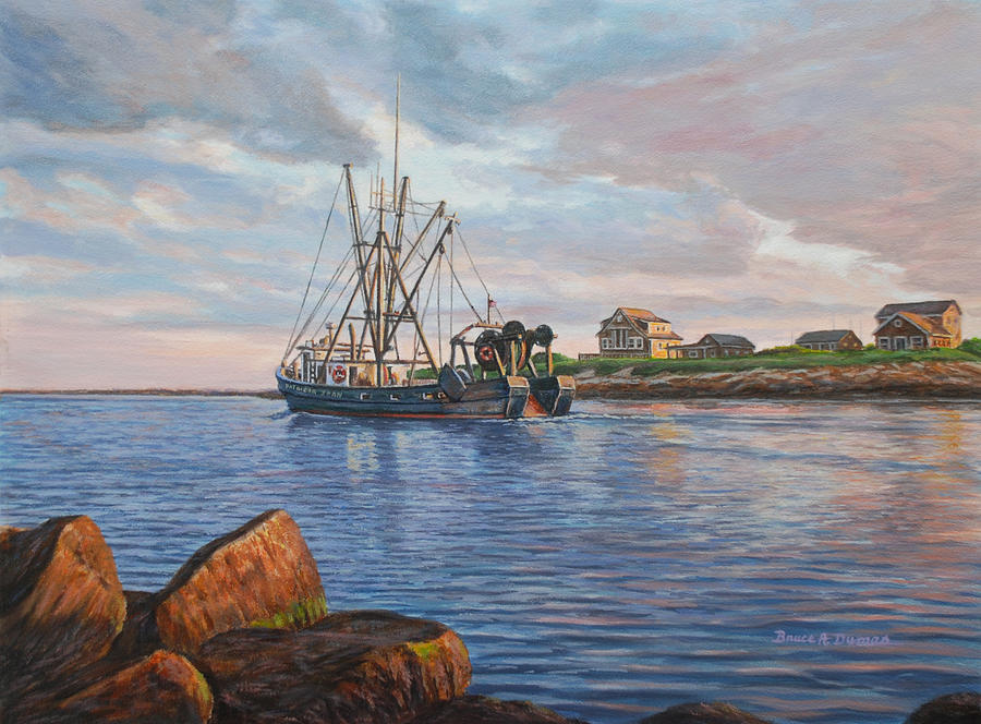 Boat Painting - Heading Out by Bruce Dumas