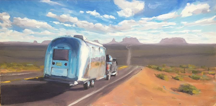 Heading South Towards Monument Valley by Elizabeth Jose