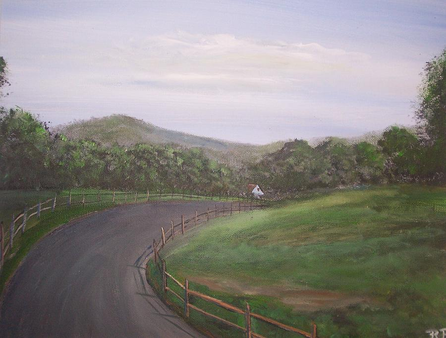 Dude Ranch Painting - Heading  To Pine Grove Ranch by Richard Finnell