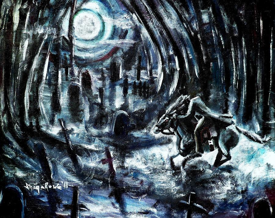 Headless Horseman Painting - Headless In The Hollow by Shana Rowe Jackson