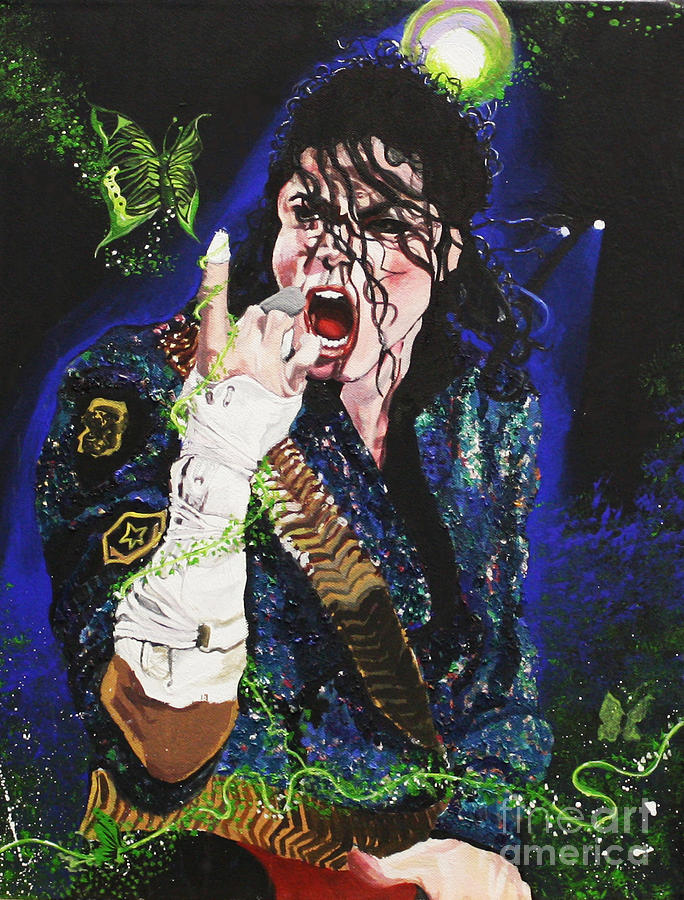 Michael Jackson Painting - Heal The World by Lauren Penha