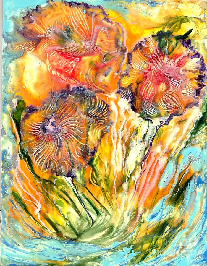 Healing Painting - Healing Blossoms For Heather Ward by Heather Hennick