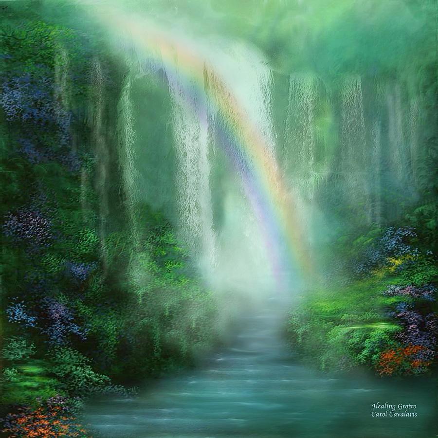 Healing Grotto Mixed Media by Carol Cavalaris