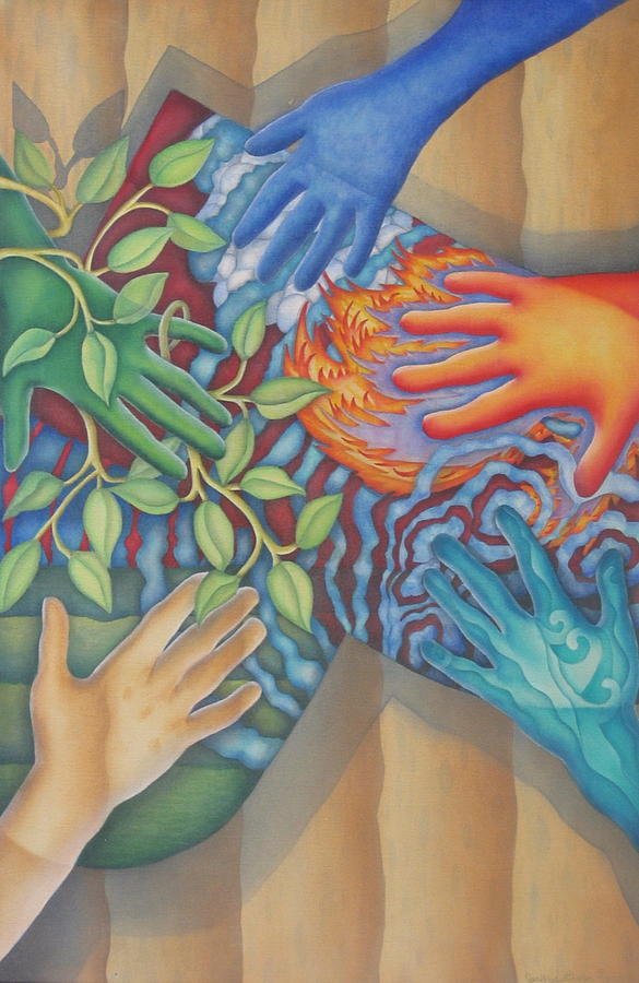Healing Hands Of Love Painting By Jeniffer Stapher Thomas