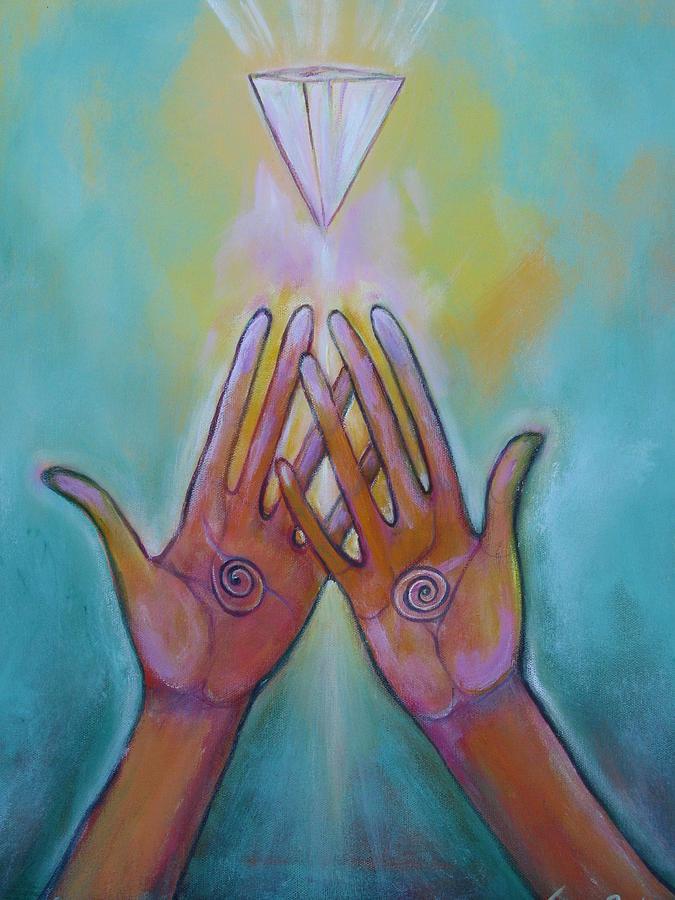 Hands Painting - Healing Hands by Tara Rieke-Elledge