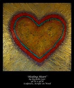 Heart Painting - Healing Heart by Rochelle Carr