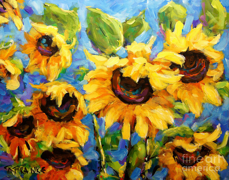 Quebec Painting - Healing Light Of Sunflowers by Richard T Pranke