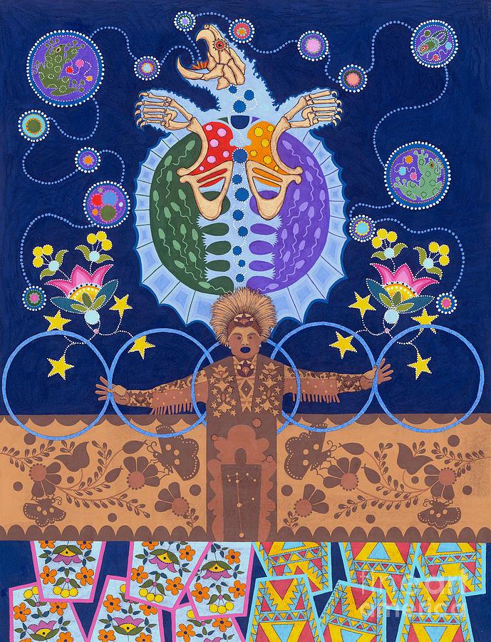 Native American Painting - Healing - nanatawihowin by Chholing Taha