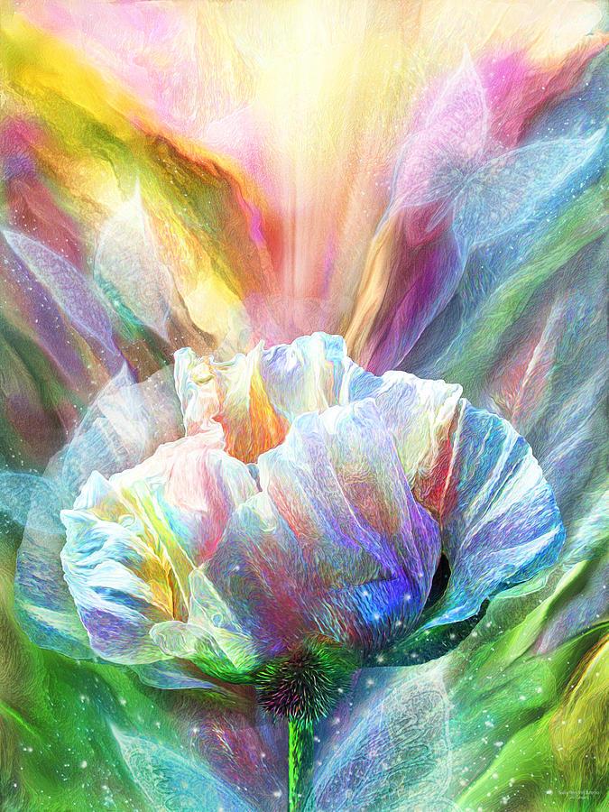 Healing Poppy With Butterflies by Carol Cavalaris