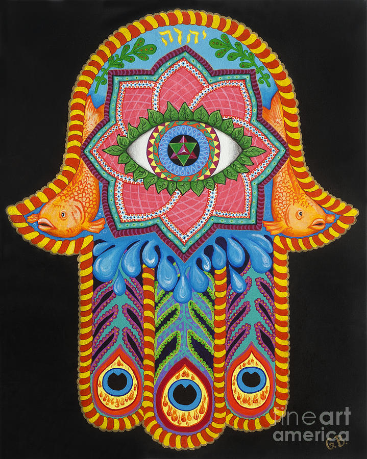 Hamsa Painting - Healing Power by Galina Bachmanova