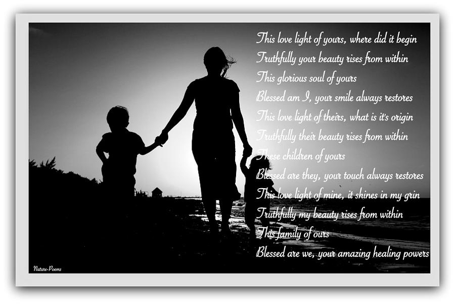 Mother's Love Photograph - Healing Powers by David Norman
