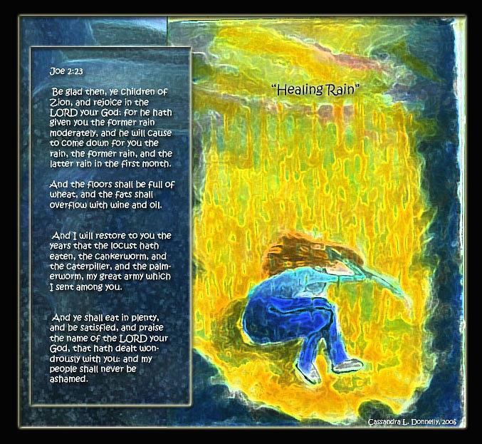 Healing Digital Art - Healing Rain by Cassandra Donnelly