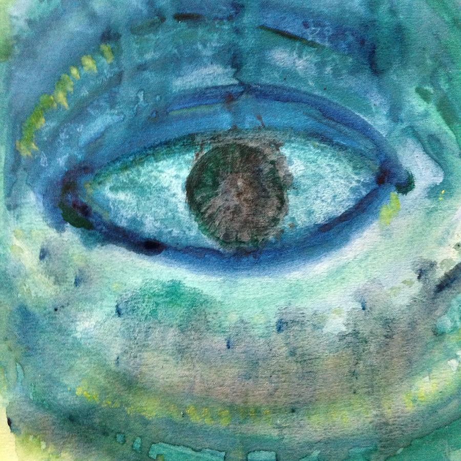 Eye Painting - Healing Tears by Kirsi Wahlstrom