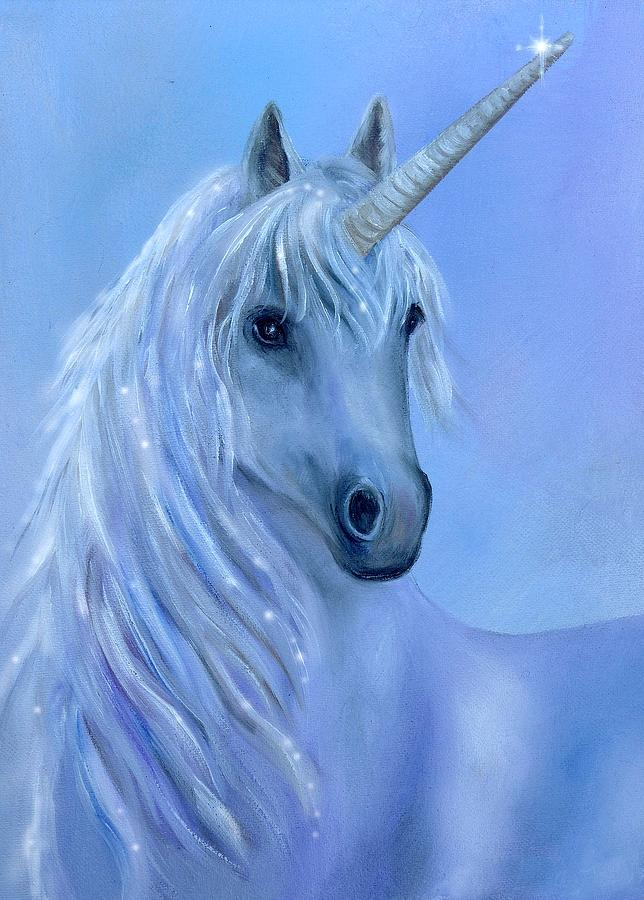 Unicorn Painting - Healing Unicorn by Sundara Fawn