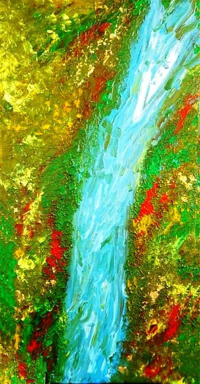 Water Painting - Healing Waters by Amy Drago