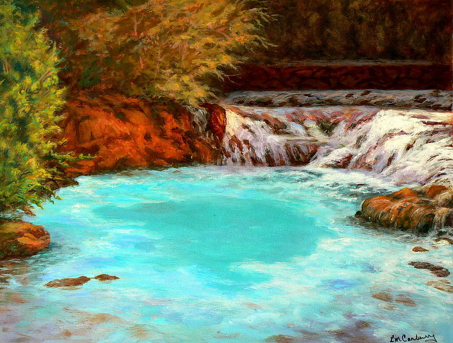 Water Painting - Healing Waters by Laura Carberry