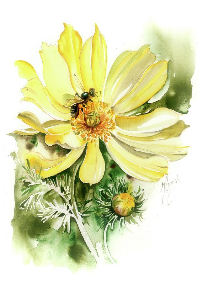 Adonis Vernalis Painting - Healing Your Heart by Anna Ewa Miarczynska
