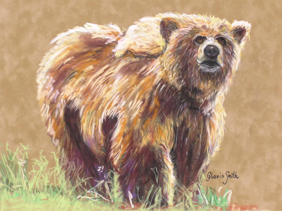Alaskan Animal Painting - Healthy Brown Bear by Gloria Smith