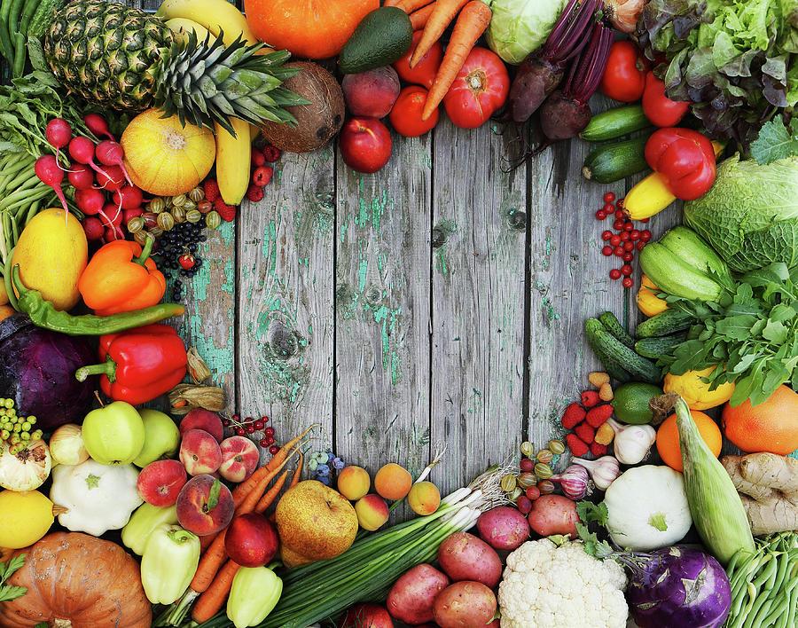 Healthy Food Background By Iuliia Malivanchuk Photograph By Iuliia Malivanchuk