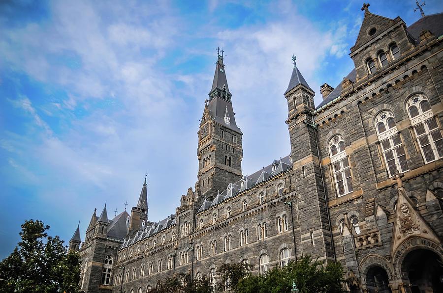 Georgetown University Photograph - Healy Hall - Georgetown University by Frank Mari