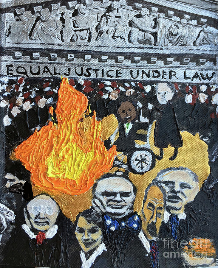 Hear No Evil See No Evil Judicial Abuse Painting by Color of Law