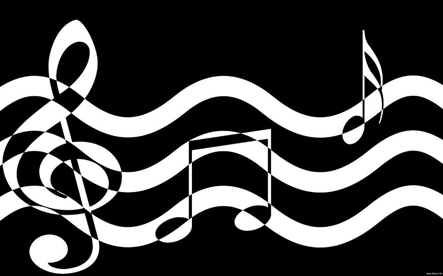 Notes Digital Art - Hear The Music by Evelyn Patrick