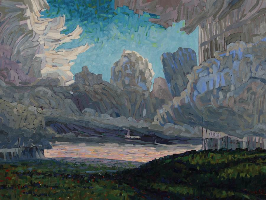 636 Painting - Hear The Thunder by Phil Chadwick