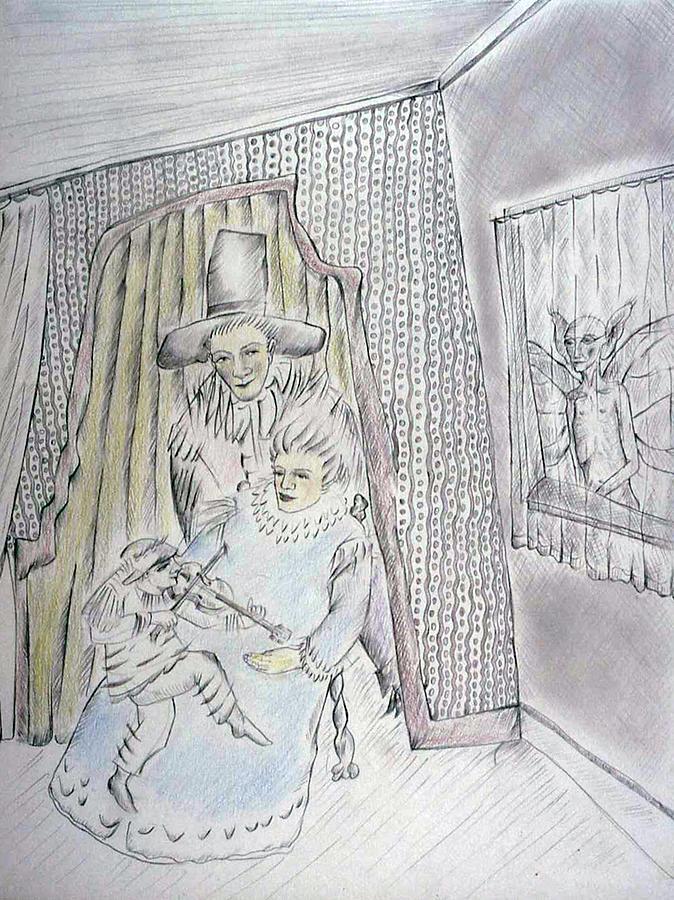 Metaphorical Drawing - Hearing by Bert Menco