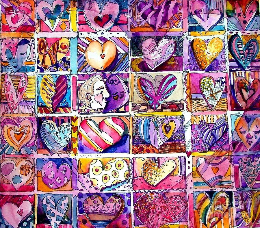 Love Painting - Heart 2 Heart by Mindy Newman