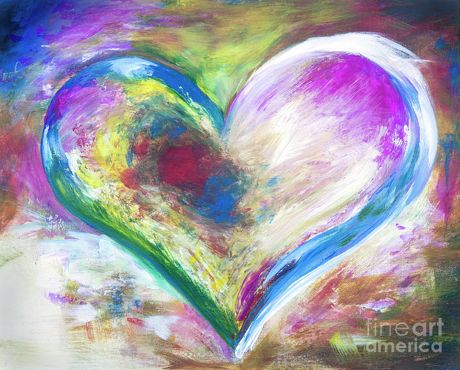 Heart Painting - Heart Abstract  by Iris Richardson
