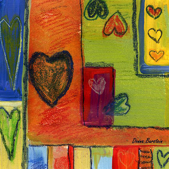 Heart Painting - Heart And Soul by Donna Burstein