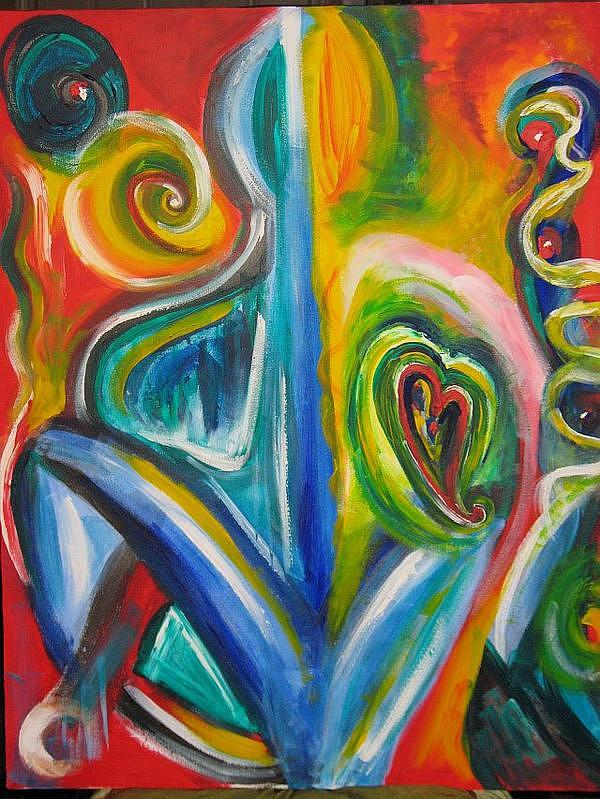 Heart Painting - Heart And Soul by Susan Cooke Pena