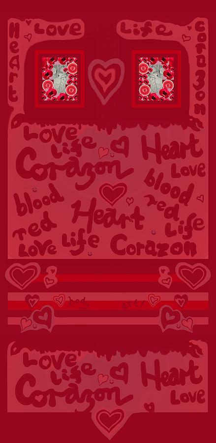 Heart Mixed Media - Heart Art by Julia Woodman