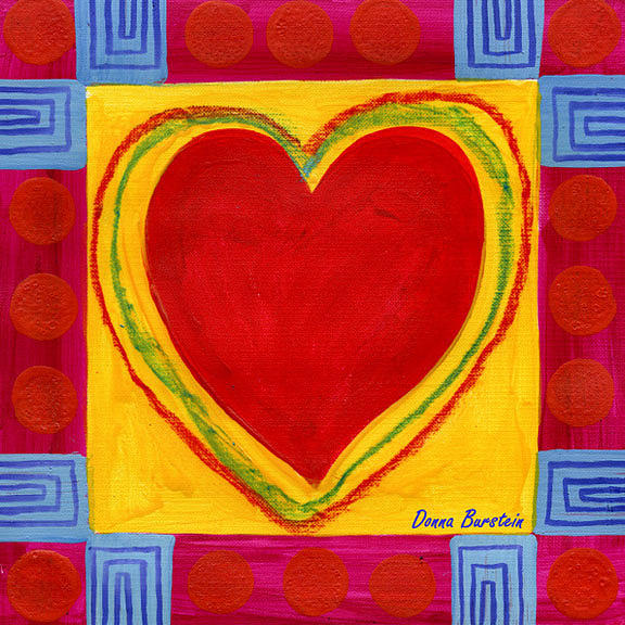 Heart Painting - Heart Beat by Donna Burstein