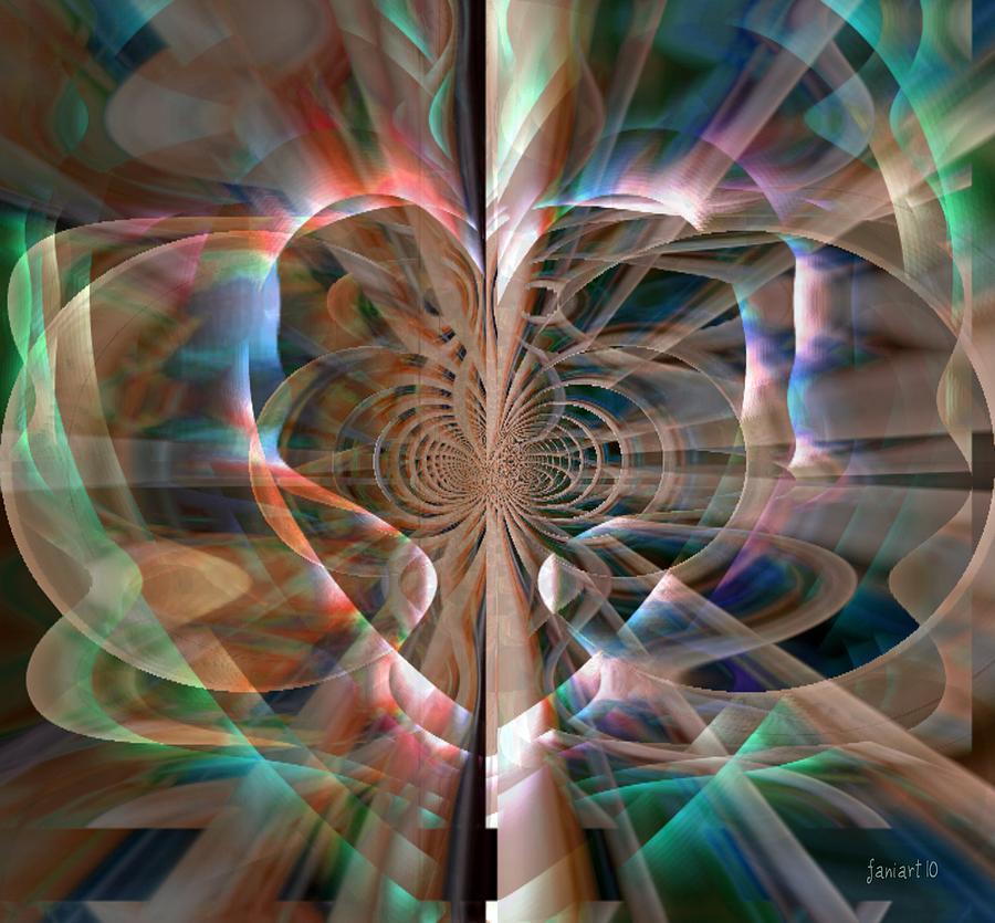 Fania Simon Digital Art - Heart Born To Love by Fania Simon
