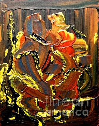 Heart Painting - Heart Burn by Karen L Christophersen
