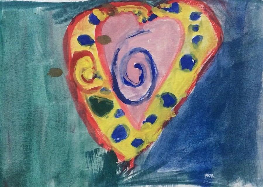 Heart Painting - Heart by Fernanda Machuca