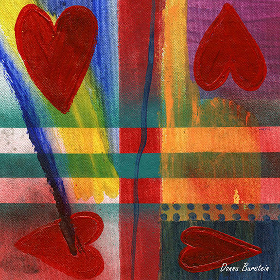 Heart Painting - Heart Fire by Donna Burstein